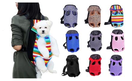 Nylon Mesh Pet Carrier Backpack
