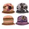 Matching Hat & Scarf Set with Flower Embellishments