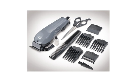 10 Piece Electric Hair Clipper Set With 4 Guard Attachments