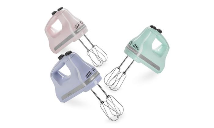 Kitchenaid Hand Mixer 5 Speed kitchenaid 5-speed ultra power™ hand mixer - khm512 | groupon