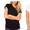 Women Sexy Fashion O-neck Tshirt Backless Angel Wing Casual Short Tops