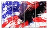 American Bald Eagle Animal Metal Wall Art 48x28 4 Panels