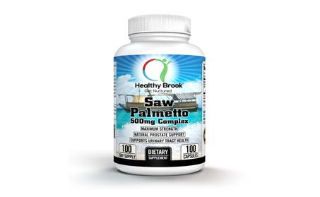 Healthy Brook Saw Palmetto 500mg Complex 100 capsules Prostate Support 1bbd6481-ecff-4df5-acc9-0d6d3f5ebe4b
