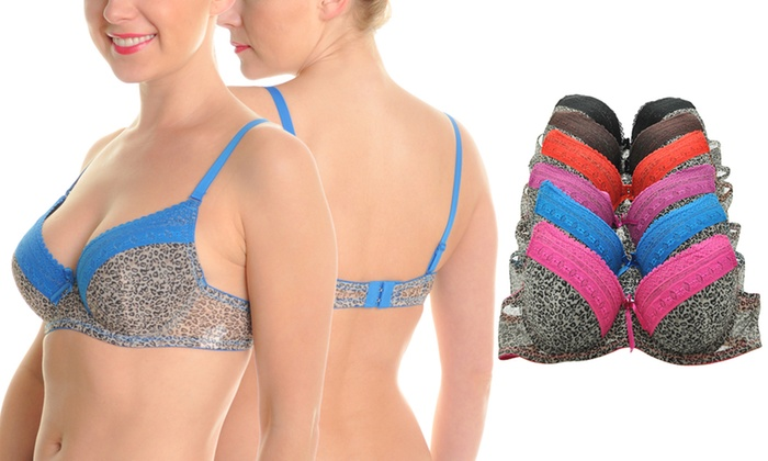 1bca329d12bd3 Up To 79% Off on Leopard Print Wired Bras (6-Pk.)