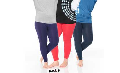 82e83fd40 Shop Groupon Pack of 3  Women s Plus Size Legging (One Size Fits Most)