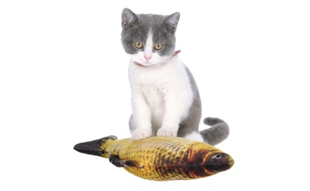 Funny 3D Fish Shape Doll Catnip Toys Pets Pillow Chew Bite for Kitten 7e9bce01-bbc1-4a2d-ba3c-6f3283dbc2b6