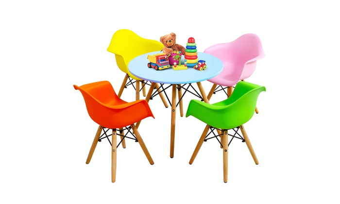Admirable Up To 77 Off On 5 Piece Kids Mid Century Mode Groupon Gmtry Best Dining Table And Chair Ideas Images Gmtryco