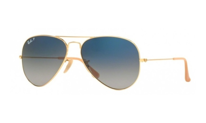 Ray-Ban Aviator Blue Polarized Sunglasses - RB3025-001/78-58