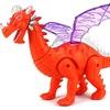 Dinosaur World Winged Dragon Battery Op Walking Toy Dinosaur (Colors Vary)