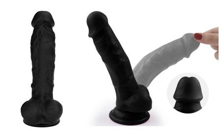 8 Inch Black Big Dildo, Classical Realistic Penis Suction Cup Dildo 9af252d4-7e85-45c2-a84b-90e7c8bfcf89