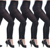 Women's Opaque Footless Tight Leggings 6 Pack