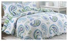 Quilt Polyester Pastoral printing 3 Pieces Bedding Set Queen Size