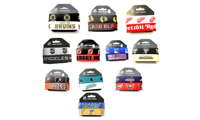 NHL Rubber Wrist Bands (2 Pack)