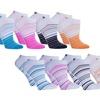 8 Pair Pack Cool Blue Anklet Socks