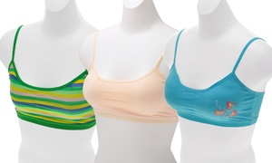 Angelina Girls' Cotton Training Bras (6-Pack)