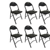 Heavy Duty Black Metal Folding Chair with Padded Seat Set of 12