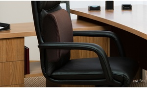 PharMeDoc Foam Lumbar Support Cushion for Office Chair & Car Seat