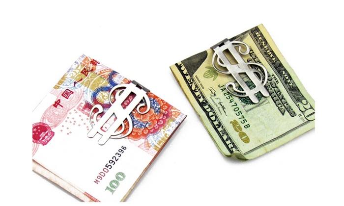 Silver color Dollar Sign Money Clip
