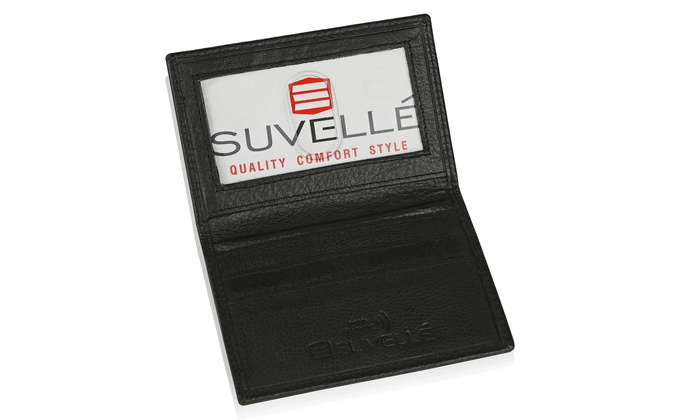 a821b00ba75 Suvelle Mens Slim Leather RFID Card, Thin Front Pocket Wallet WR100
