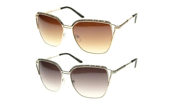 MLC Eyewear Retro Fashion Rectangular Wired Horn Rimmed Sunglasses S61NGW3105