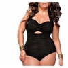 Women's Ruched Plus Size One Piece Swimwear