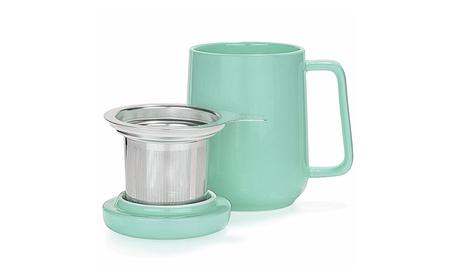 Peak Ceramic Turquoise Tea Cup Infuser - 16-ounce e7dd87a9-d2d6-4f63-ab30-8b9aafce59e6