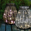 Solar Glass Lantern with String Light
