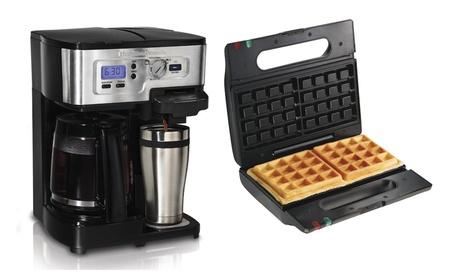 Hamilton Beach FlexBrew 12 Cup Coffee Maker + Proctor-Silex Belgian cf38badf-761b-467c-8fce-b225b27f9f2d