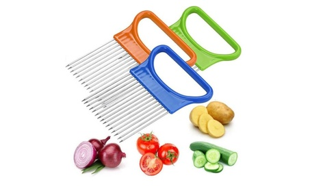Onion Tomato Meat Fish Chicken Holder Slicer Vegetable Cutter Easy Use 751fc4db-2980-4162-b4bd-f5df5c10a644