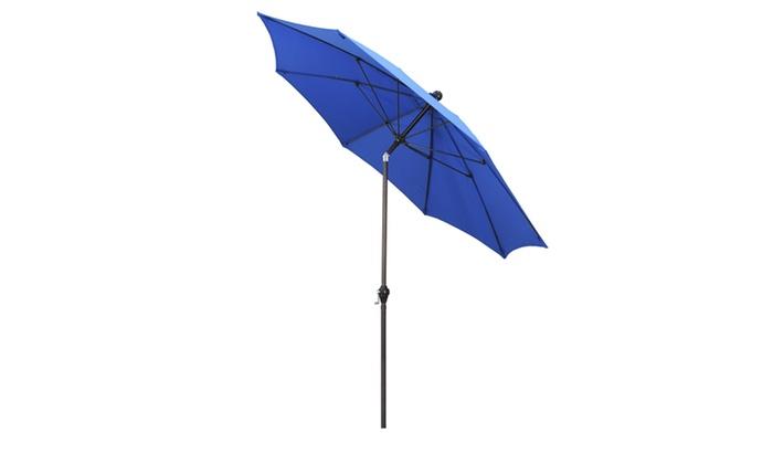 California Umbrella 9u0027 Patio Umbrella With Crank And Tilt ...