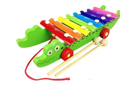 Crocodile Knock On Piano Kids Wooden Toddler Learning Musical Toy 04b311f0-cf10-4aa7-860f-785efcdab354