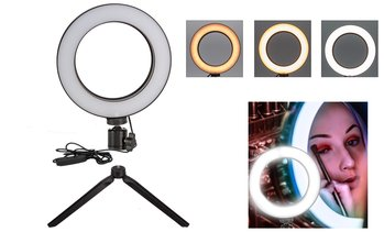 LED Ring Light Dimmable Lamp with Adjustable Tripod For Photo Video