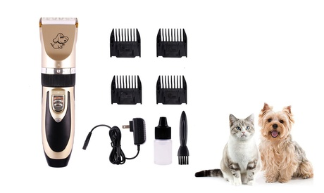 Electric Animal Dog Trimmer Hair Clipper Pet Grooming Shaver Quiet