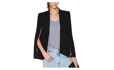 Women's Long Sleeve Casual Cape Suit Outwear Workwear Blazers
