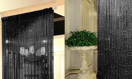 Curtain String Door Beads Room Divider Window Panel Tassel Crystal Fringe Beaded