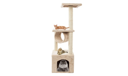 """36"""" Cat Tree with Scratch Posts Kitten Condo Furniture Play Pet House"""