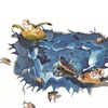 3D Turtle Floor Wall Sticker Removable Mural Vinyl Decals