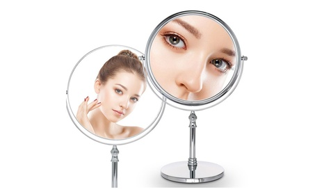 Cosprof 8-Inch Diameter 10X Magnifying Two Sided Vanity Makeup Mirror