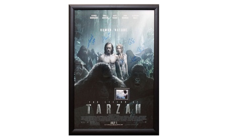 Legend of Tarzan - Signed Movie Poster in Wood Frame with COA 4636aa71-b9a6-4489-b62b-49df0a88170e