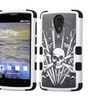 Insten Tuff Sword Skull Hard Hybrid Case For Zte N817 Black/white