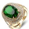 Austrian Crystal Big Green Stone Ring for Women