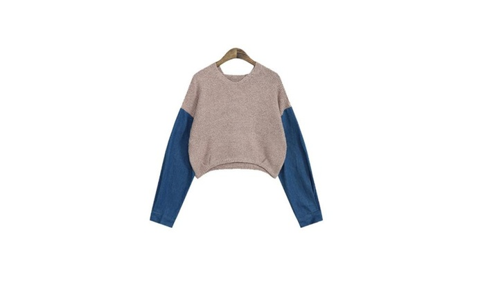 Women's Colorblock Loose Fit Casual Casual Pullovers