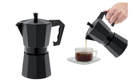 3 Cup Black Aluminium Coffeee Maker Espresso Maker photo