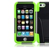 Insten Black Neon Green Hard Hybrid Case W/stand For Iphone 5c/5s/se