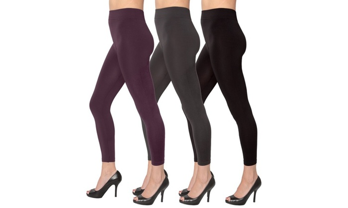 Women's Smooth Seamless Leggings in Assorted Colors 3-Pack