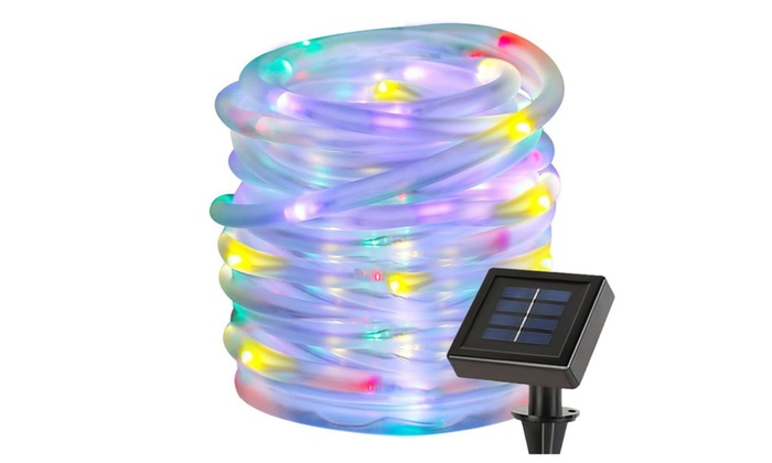 100 Led Solar Rope Lights Waterproof Party Garden Lawn