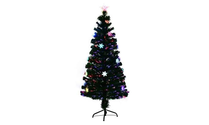 5ft pre lit fiber optic artificial christmas tree wmulticolor lights