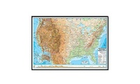 Universal Map 16167 United States Advanced Physical Mounted & Black Framed Map