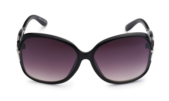 Eason Fashion Women's Fashion Metal and Plastic Square Sunglasses