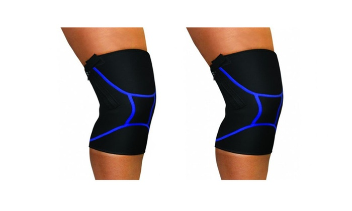 Zip Knee Support Pain Relief & Support Wraps – blue